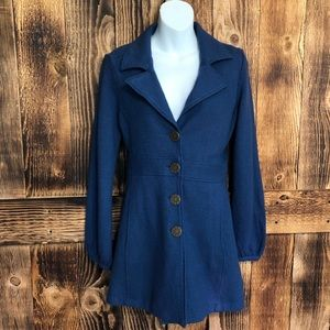 Cabi - Blue Merino Wool Aristocrat Pea Coat - S